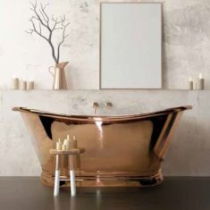 BC Designs Copper Boat Bath Freestanding Classic Roll Top Bath 1700mm x 725mm
