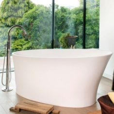 BC Designs Cian®Cast Solid Surface Delicata Bath 1520 x 715mm