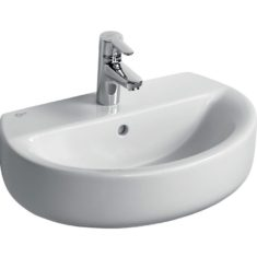 Ideal Standard Concept Space 550mm Sphere Pedestal Basin – Short Projection