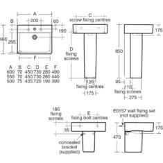 Ideal Standard Concept Cube 55cm Basin
