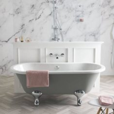 BC Designs Elmstead Acrylic Double Ended Bath Classic Roll Top 1500mm x 745mm