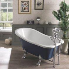 BC Designs Fordham Acrylic Slipper Bath Classic Roll Top 1500mm x 770/625mm