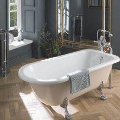 BC Designs Mistley Acrylic Single Ended Classic Roll Top Bath 1700mm x 750mm