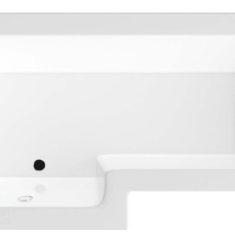 BC-SolidBlue L Bath 1700mm x 850/700mm