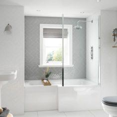 BC-SolidBlue L Bath 1500mm x 850/700mm
