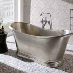 BC Designs Tin Boat Bath Freestanding Classic Roll Top 1500mm x 700mm
