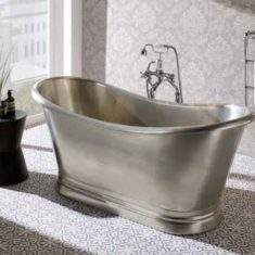 BC Designs Tin Boat Bath Freestanding Classic Roll Top 1700mm x 725mm