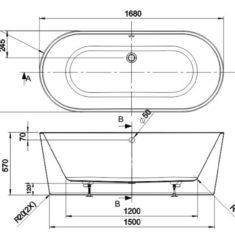 BC Designs Contemporary Acrymite® Viado Bath 1680 x 740mm