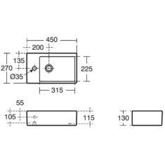 Ideal Standard Strada 450mm Handrinse Countertop Basin