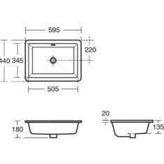 Ideal Standard Strada 500mm Semi Countertop Basin