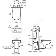 Ideal Standard Tempo Wall Hung WC Pan & Soft Close Seat
