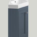 Bayswater 595 x 449 x 850mm 1 Door Corner Basin Unit & Basin