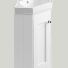 Bayswater 595 x 449 x 850mm 1 Door Corner Basin Unit & Basin