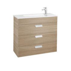 Roca Debba Unik Compact 800 x 360 x 720mm 3 Drawer Vanity Unit and Basin