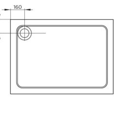 April Rectangle Shower Tray – 900x760mm