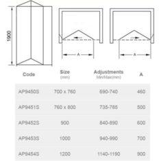 April Identiti Bi-Fold Door – 700/760mm