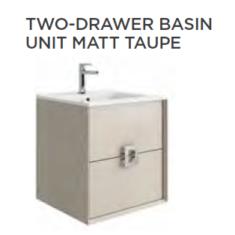 Tissino Aletta Matt 500 x 400 x 545mm 2 Drawer Base Unit & Basin