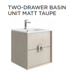 Tissino Aletta Matt 500 x 400 x 545mm 2 Drawer Base Unit & Basin