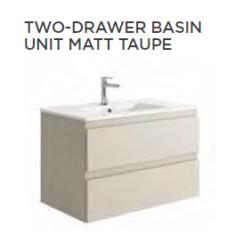 Tissino Catina Matt 800 x 460 x 500mm 2 Drawer Base Unit & Basin