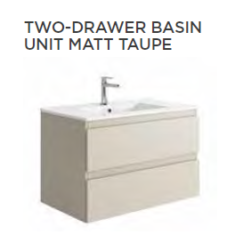 Tissino Catina Matt 800 x 460 x 500mm 2 Drawer Base Unit & Basin