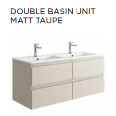 Tissino Catina Matt 1200 x 460 x 522mm 4 Drawer Base Unit & Basins