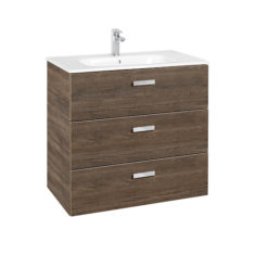 Roca Victoria Basic Unik 600 x 460 x 755mm 3 Drawer Vanity Base Unit & Basin