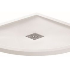April Waifer®Gloss White Quadrant Shower Tray-800x800mm