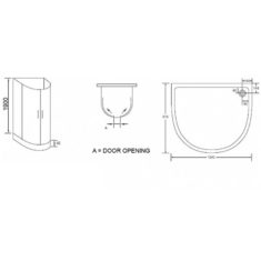 April U Shape Quadrant Enclosure and Bespoke Tray