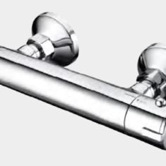 Eastbrook Exposed Round Thermostatic Bar Valve & Breeze Riser Shower Kit