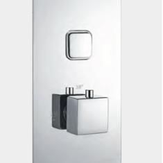 Eastbrook Concealed Manual Valve, Rectangular Slider Rail, Shower Handset, Shower Hose &Square Outlet Elbow