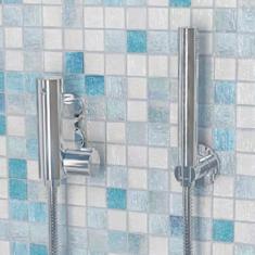 Eastbrook Vertical Exposed Valve, Round Shower Handset, Shower Hose & Shower Holder