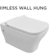 Tissino Savuto Rimless Wall Hung WC Pan & Slim Soft Close Seat