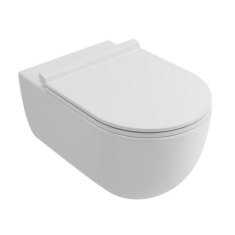 Tissino Velino Short Projection Rimless Wall Hung WC Pan & Soft Close Seat