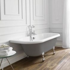 April Kildwick 1700 x 750mm Back to the Wall Freestanding Bath
