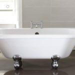 April Kildwick 1700 x 750mm Back to the Wall Freestanding Bath