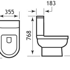 Eastbrook Dura Close Coupled Pan, Cistern & Seat